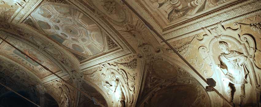 Affreschi e stucchi - Decorazione Plastica volta della Galleria Aurea
