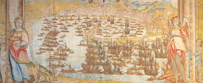 La partenza da Messina della flotta cristiana