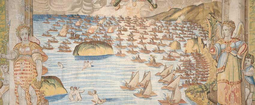 La vittoria cristiana e la fuga di sette galee turche
