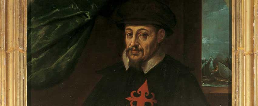 Dipinti - Ritratto di Giovanni Andrea I con il cane Roldano