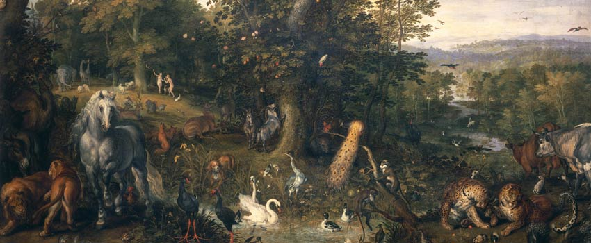 Jan Brueghel il Vecchio - Paradiso Terrestre con il Peccato Originale
